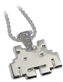 space invaders pendant