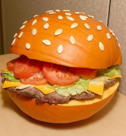 hamburger pumpkin art