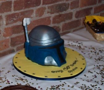 jango fett helmet star wars cake