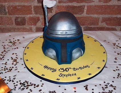 jango fett star wars cake