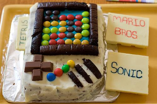 nintendo gameboy cake design