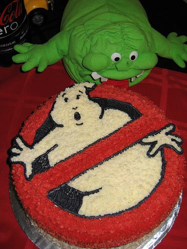 ghostbusters cake slimer
