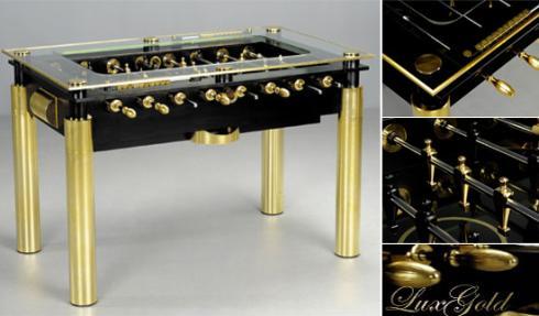 gold lux foosball