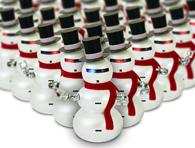 christmas snowman robot gadget
