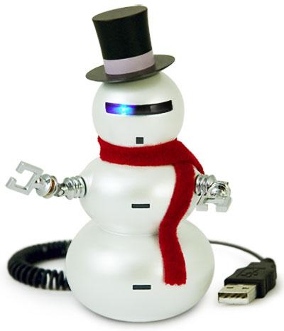 christmas snowman robot
