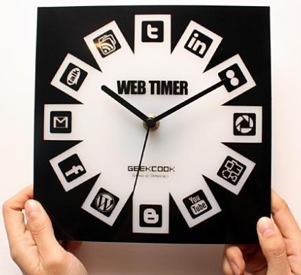 social media clock design