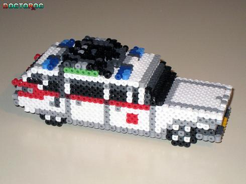 perler ecto 1 ghostbusters