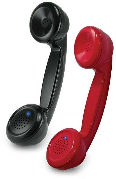 Bluetooth Retro Handset Black Red