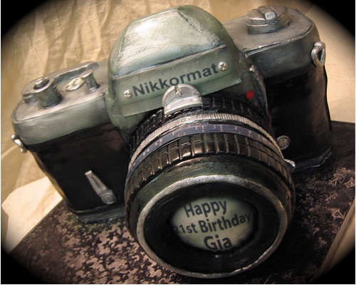 Nikon-Camera-Cake-design image