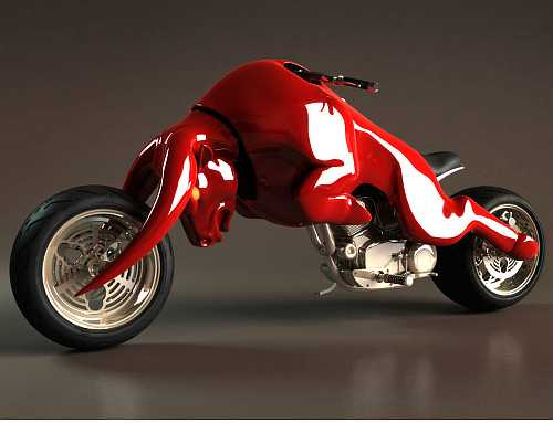 Red Charging Bull bike