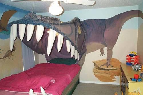 dinosaur bed design for geeks