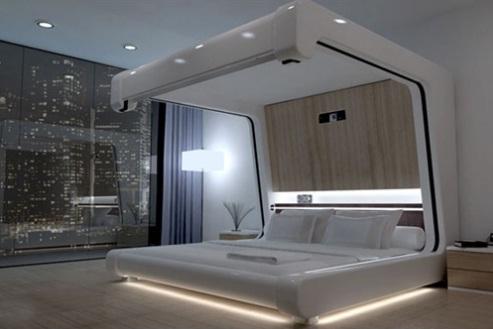 hi tech bed design for geeks
