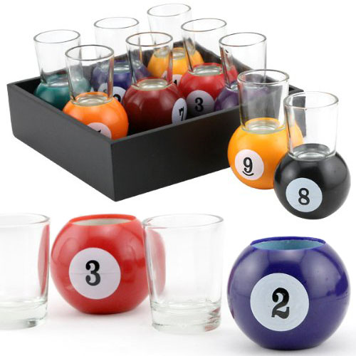 Billiard-Ball-Shot-Glasses