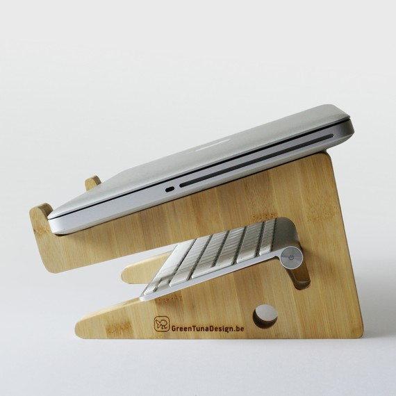 Puzzle Shaped Laptop Stand Mac 3
