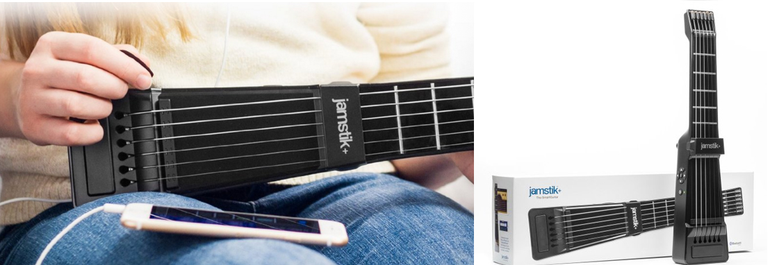 jamstik+ Portable SmartGuitar with Interactive Guitar Lesson Apps for iOS and Mac. Real Strings and Bluetooth Connectivity