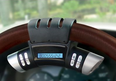steering wheel bluetooth speakerphone gadget