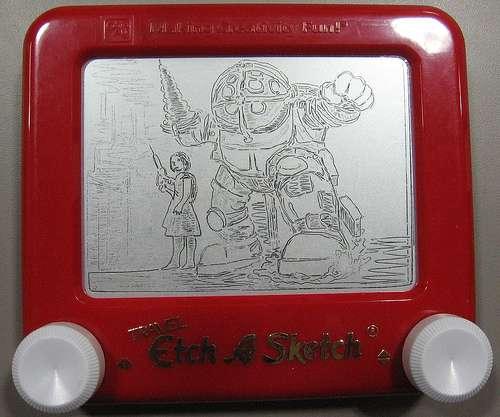 bioshock etch a sketch drawing