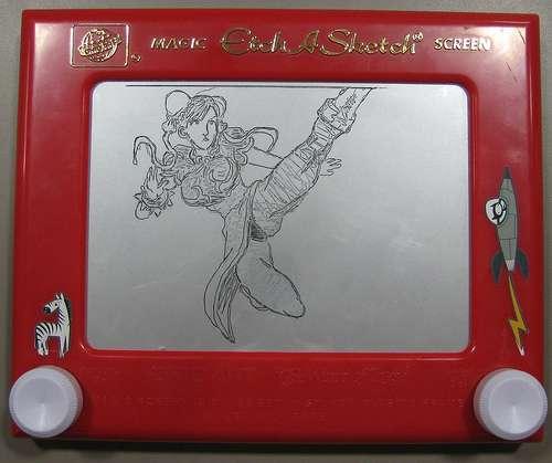 chun li street fighter etch a sketch drawing
