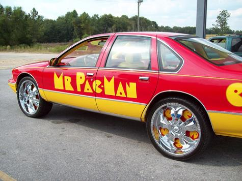 cool pacman car back view