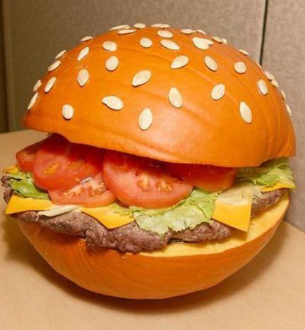 hamburger pumpkin art