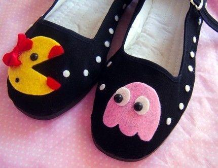 cool ms. pacman shoes