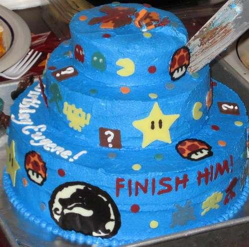 video game cake design