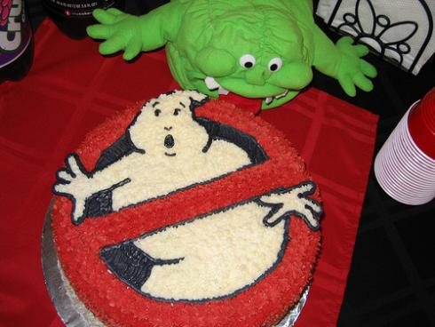 ghostbusters cake slimer tongue
