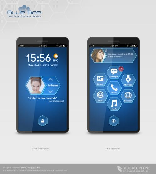 BLUE BEE Now Use All the Surface Area of Your Phone as Your Display Screen (2)