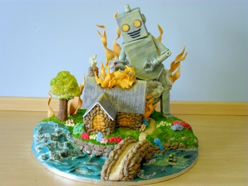 Evil Robo Cake Is Dreadfully Delicious-3