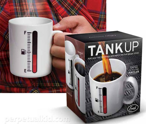 Tank-Up Coffee Mug With Fuel Meter Is Superbly Cool