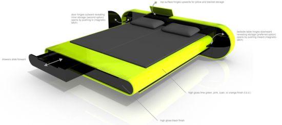 karim rashid adjustable bed design for geeks