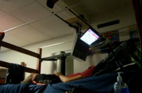 laptop station bed diy image