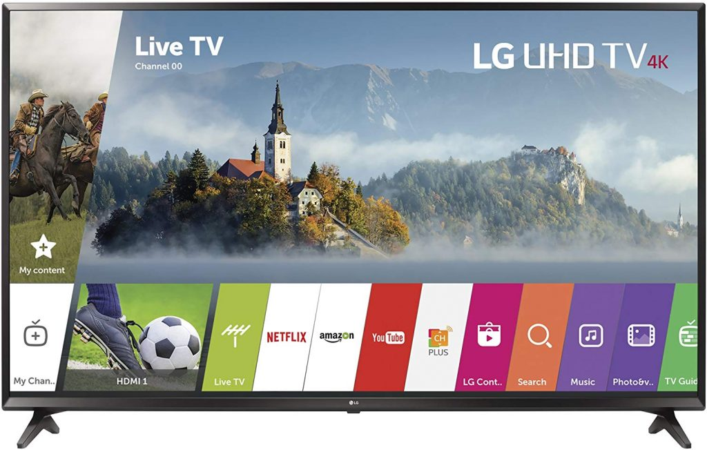 LG Electronics 43UJ6300 43-Inch 4K Ultra HD Smart LED TV